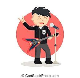 rock singer man color