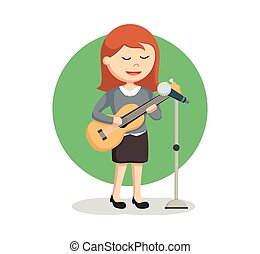 solo singer woman with guitar