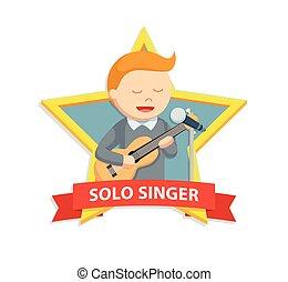 solo singer man in star emblem