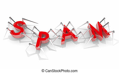 Spam Bots Spiders Word Letters Junk Email 3d Illustration
