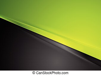 Green and black contrast striped abstraction