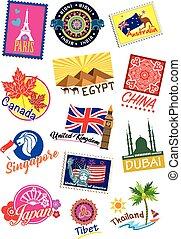 Travel landmark icon