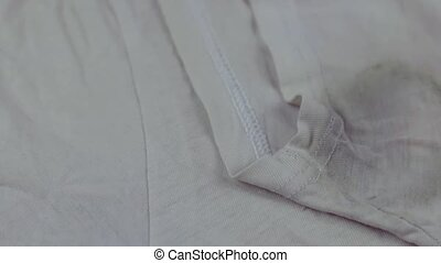 Sweat stain on t-shirt - Sweat stain problem on t-shirt