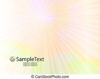 spring background with sun rays