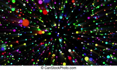 Colorful Abstract Particles Loop Background