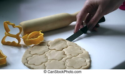 Preparation of baking cookies at home.