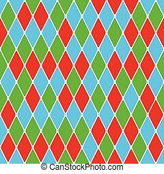 Harlequin parti-coloured seamless pattern 50 Color bright...