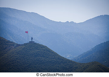 Ataturk statue in Turkey - Statue of Ataturk ontop of a...