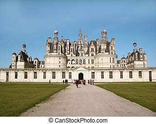 Chambord castle in Loire France