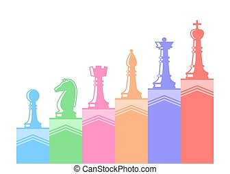 Set of chess figures.