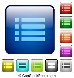 Unordered list color square buttons - Unordered list icons...