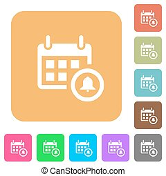 Calendar alarm rounded square flat icons