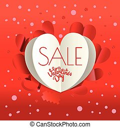Valentines day sale special offer banner. Vector poster...