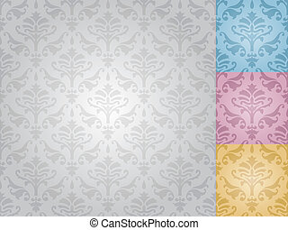 seamless damask pattern (vector)