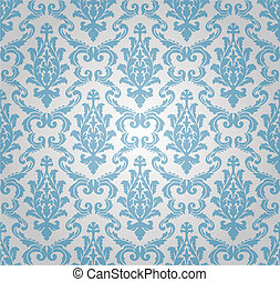 seamless damask pattern vector - seamless damask pattern,...