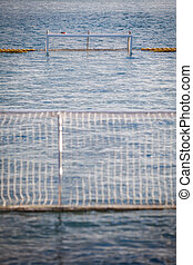 Water polo gate - Color image of a water polo gate, with...