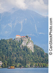 Bled castle in Slovenia - View of the Bled castle in...