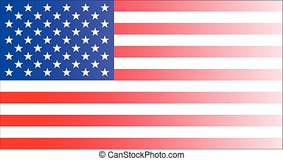 Fading Stars And Stripes - The 'Stars and Stripes' flag with...