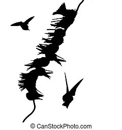 migrating swallows on wire
