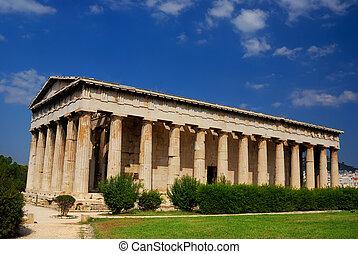 templo, (Hephaestus), Hephaistos, Athen, grecia