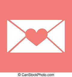vector e-mail, envelop icons with heart wax press.For...