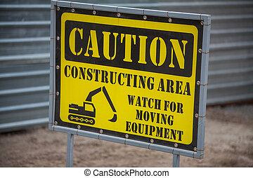 Construction site forbidden access