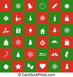 Seamless christmas background, vector illustration