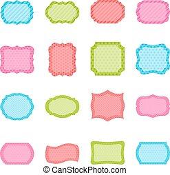 Set of colorful frames, vector illustration