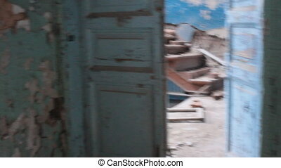 house collapsed looking for safe exits - very old...