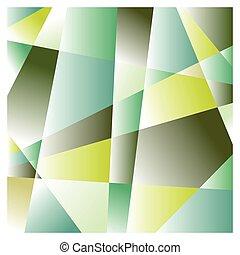 Gradient color-cut shapes - Cubic background of gradient...