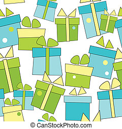 Vector seamless background with gifts