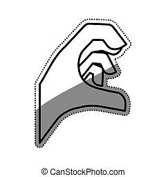 Hand sign symbol icon vector illustration graphic design