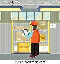 Logistician Manager Checks the Cargo Deivering - Logistician...
