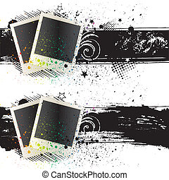 vector illustration of photo frames - blank photof rames and...