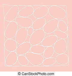 hand drawn abstract design on trend color background