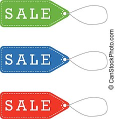 Vector Sale Labels for Promotion
