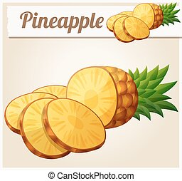 Pineapple Ananas fruit. Cartoon vector icon - Pineapple...