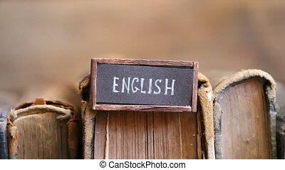 English language textbooks - English tag and vintage books...