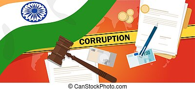 India fights corruption money bribery financial law contract...