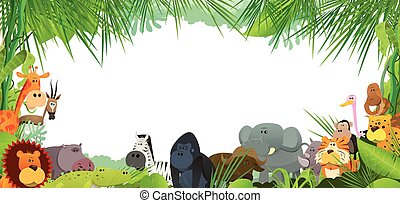 Postcard With Wild African Animals