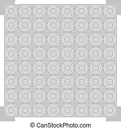 Grey dance floor background, vector illustration