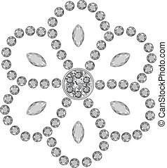Marquise & round cut gems - Texture of grey marquise & round...