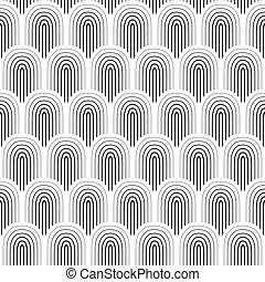 Black white seamless background, vector illustration