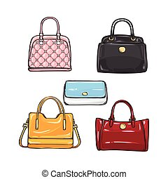 Collection of Different Handbags for Women - Collection of...