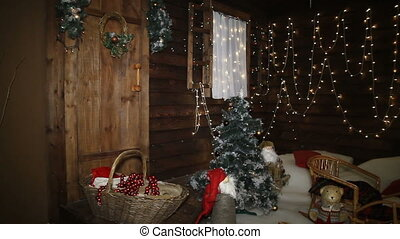 place decorated for christmas photosession - studio...