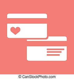 Credit Card pictograph flat icon - Credit Card pictograph...