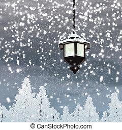ランタン, 雪