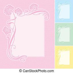 label background (vector) - Elegant floral label background....