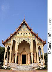 Kanchanaburi - Thai Buddhist temple in Kanchanaburi,...