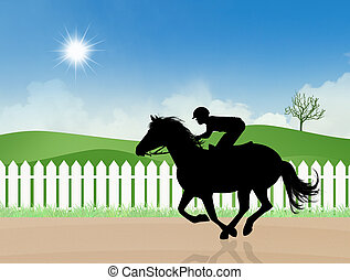 Horse racing - illustration of Horse racing